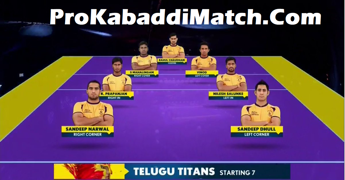 Prokabaddi 2019: Telugu Titans Playing 7 Prediction