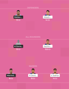 UP Vs BEN Dream11