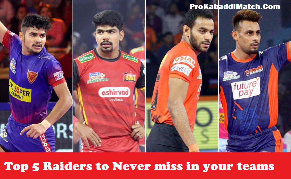Top 5 Star Raiders of PKL 2019 To Watch for Pro Kabaddi season 8