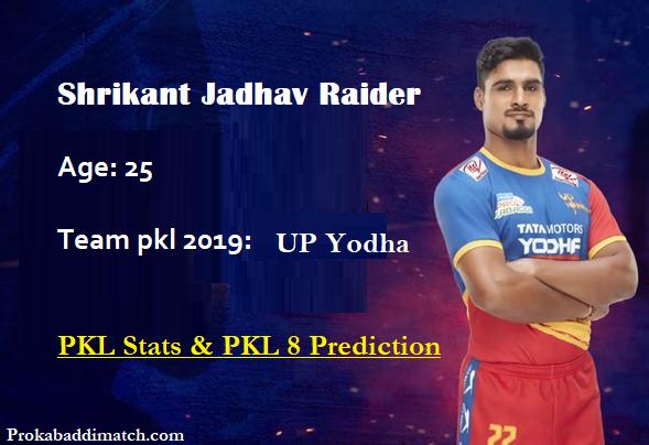 Shrikant Jadhav Pro Kabaddi Stats PKL 2019, PKL 2020 Prediction