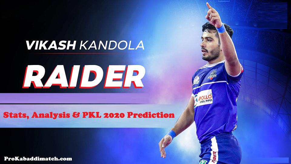 Vikash Kandola Pro Kabaddi Stats PKL 2019, PKL 2020 Prediction