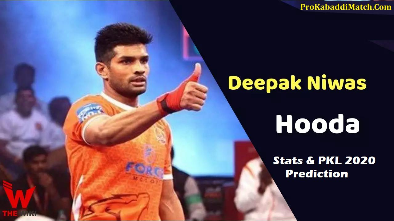Deepak Niwas Hooda Pro Kabaddi Stats PKL 2019, PKL 2020 Prediction