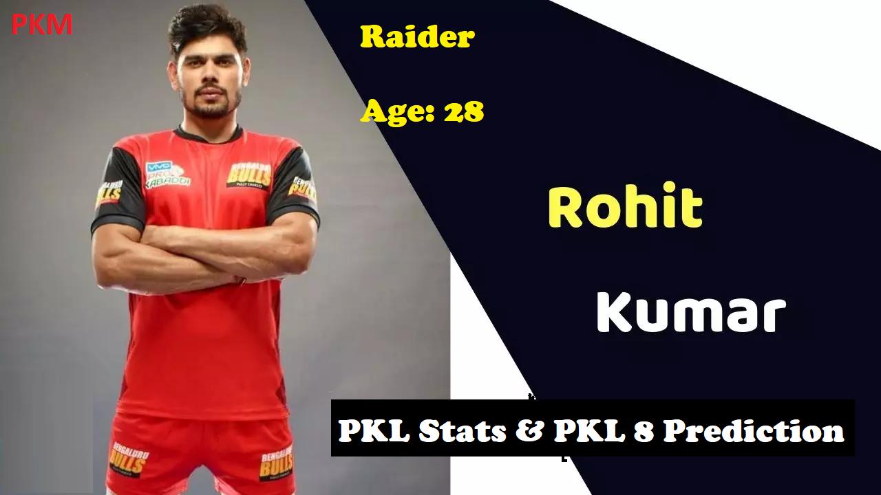 Rohit Kumar Pro Kabaddi Stats PKL 2019, PKL 2020 Prediction