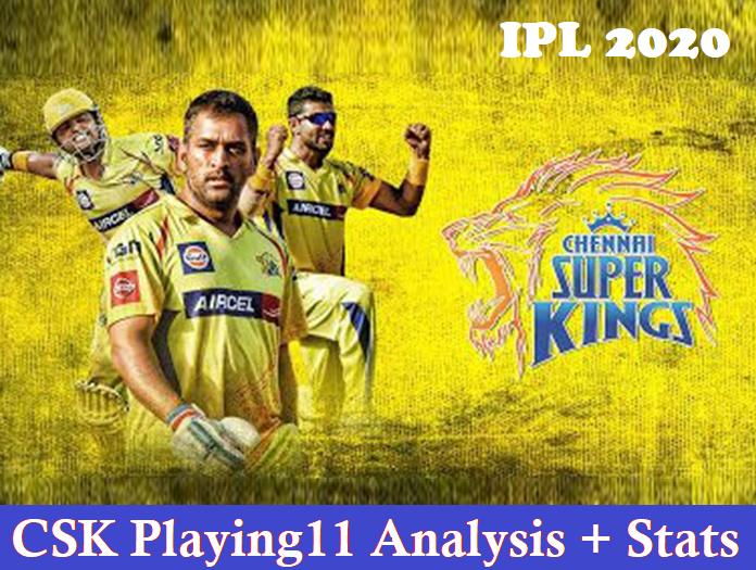 Chennai Super Kings Playing11 – CSK Playing11 IPL 2020 with Analysis