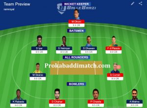 DC Vs CSK Dream11