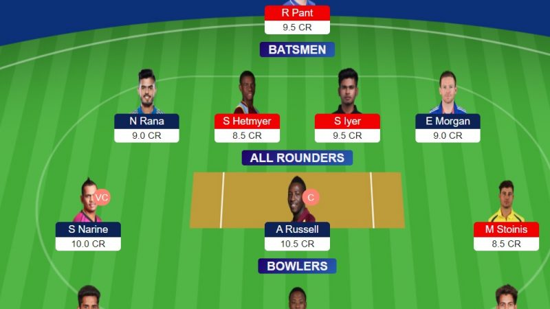KKR Vs DC Dream11 Prediction Preview fantasy cricket tips