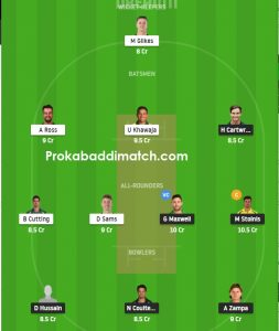 STA Vs THU Dream11