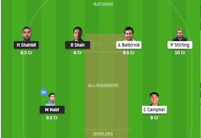 Afgh Vs Ire Dream11 Prediction Stats, Grand League Tips – Fantasy Cricket