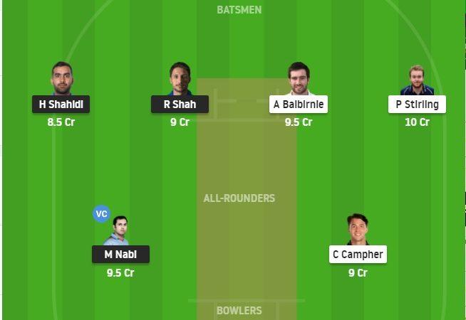 Afgh Vs Ire Dream11 Prediction Stats, Grand League Tips – Fantasy Cricket