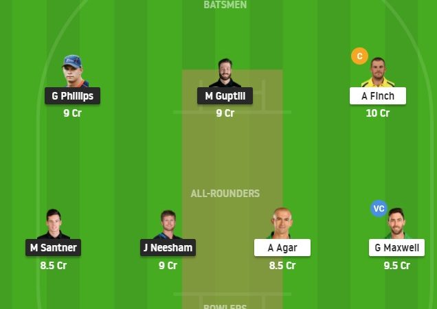 New Zealand Vs Australia 1st T20 Dream11 Fantasy Cricket – Preview