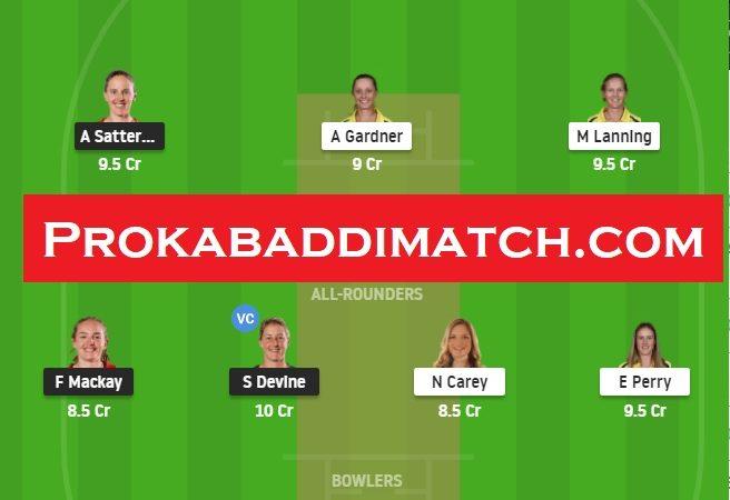 AUSw Vs NZw 3rd T20 Dream11 Fantasy Cricket Prediction