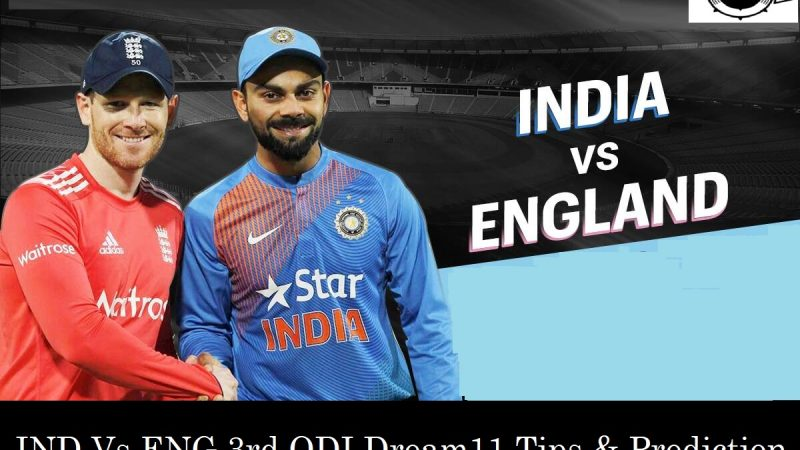 India Vs England 3rd Odi Dream11 Fantasy Cricket Prediction