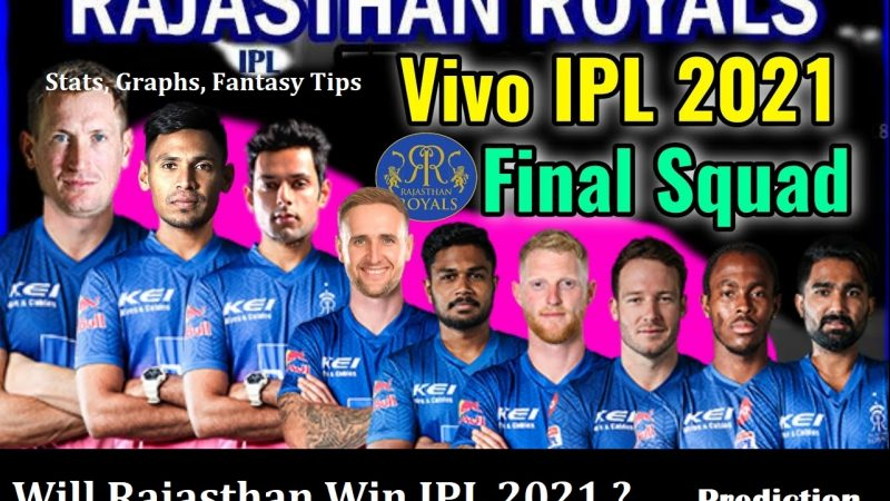 Rajasthan Royals Playing11 Prediction, RR IPL 2021 Winning or Not – Analysis