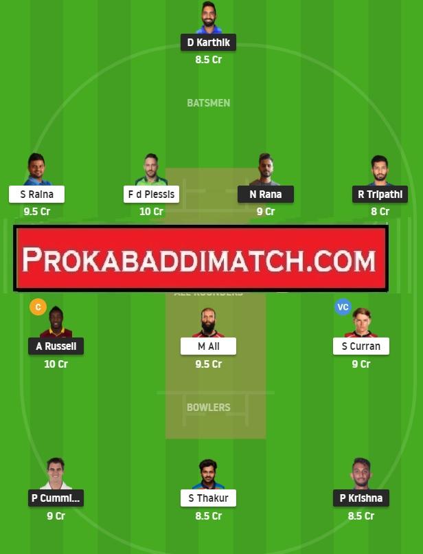 KKR Vs CSK IPL 2021 Dream11 Prediction Stats & Fantasy Cricket Tips