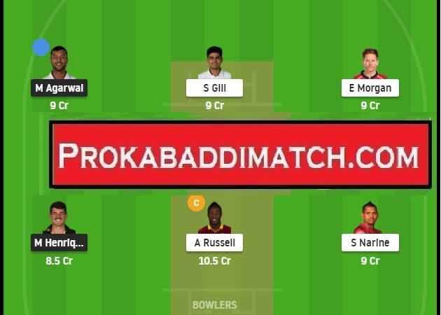 KKR Vs PBKS IPL 2021 Dream11 Prediction Stats & Fantasy Cricket Tips