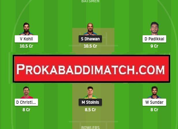 RCB Vs DC IPL 2021 Dream11 Prediction Stats & Fantasy Cricket Tips