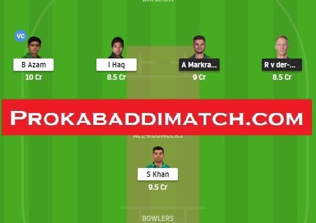 South Africa Vs Pakistan 2nd Odi Dream11 Fantasy Cricket Prediction